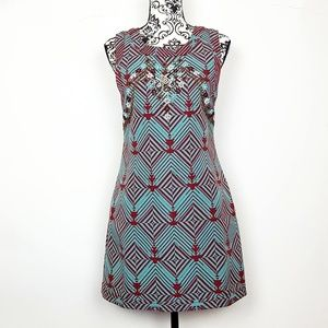 New Romantics   FREE PEOPLE Geo Beaded Mini Dress